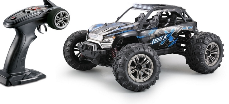 X Truck High Speed 4WD Sand Buggy 1/16 LED 2,4GHz RTR blau