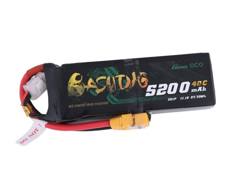 Bashing 5200mAh 11.1V 3S1P Lipo Akku mit XT90-Stecker Arrma