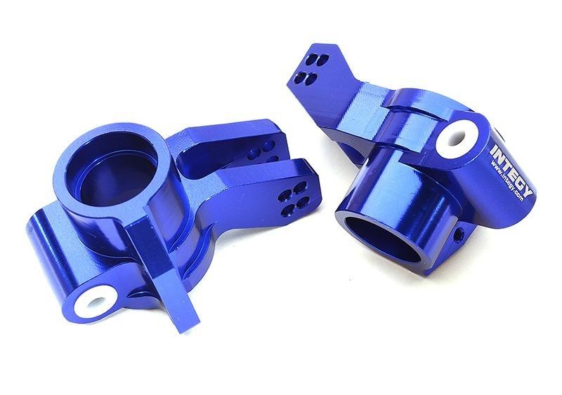 CNC Aluminium Radträger hinten blau für 1/8 Kraton 6S