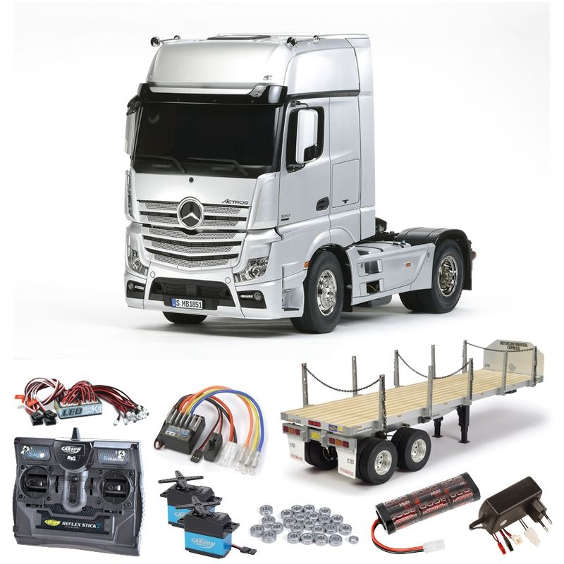 Mercedes Actros 1851 complete + flatbead, LED, ball bearings
