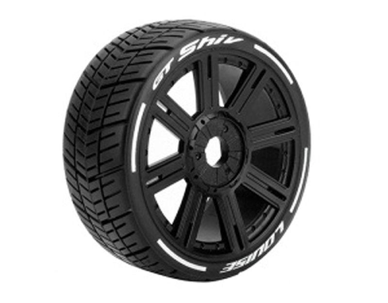 GT-SHIV 1/8 Buggy Reifen Supersoft auf Felge schwarz 17mm