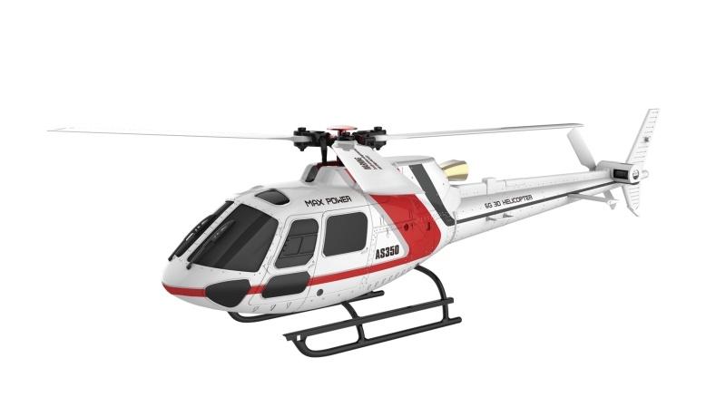 AS350 3D Hubschrauber Brushless 3-Blatt 6G Flybarless RTF