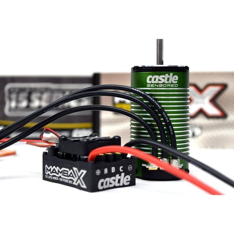 Mamba X Brushless Combo 1/8 25,2V Regler + 1515-2200kv Motor