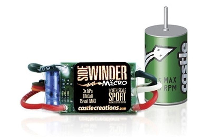 Sidewinder Micro Brushless Combo 1/18 Regler + Motor CM2080