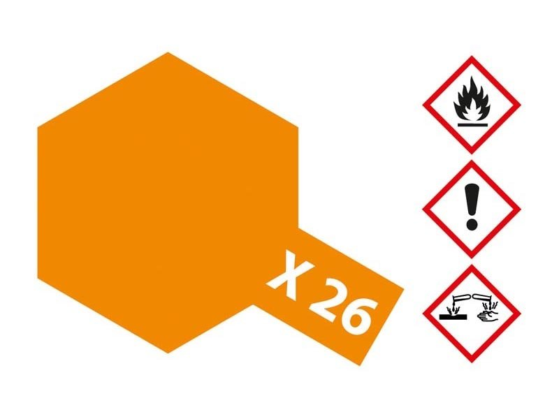 X-26 Klar-Orange glänzend 23ml Acrylfarbe