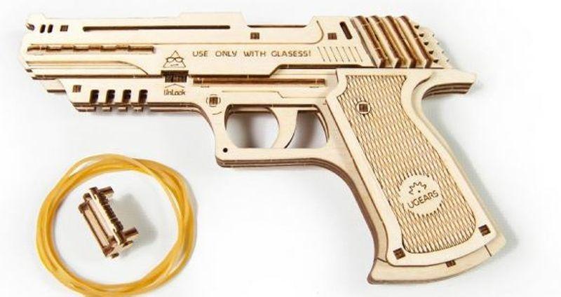 Wolf-01 Handfeuerwaffe Holzbausatz