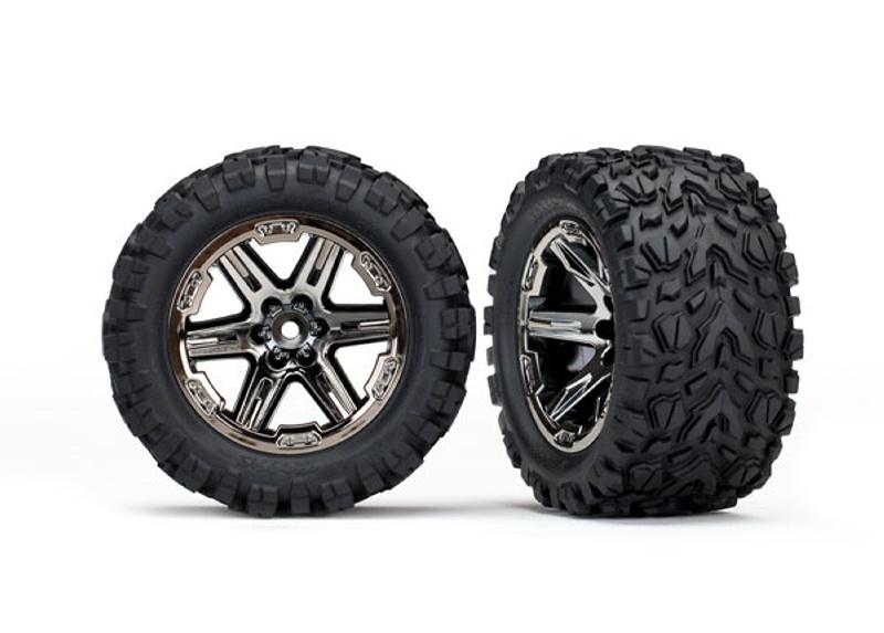 Talon Kompletträder für Rustler 4WD und 2WD