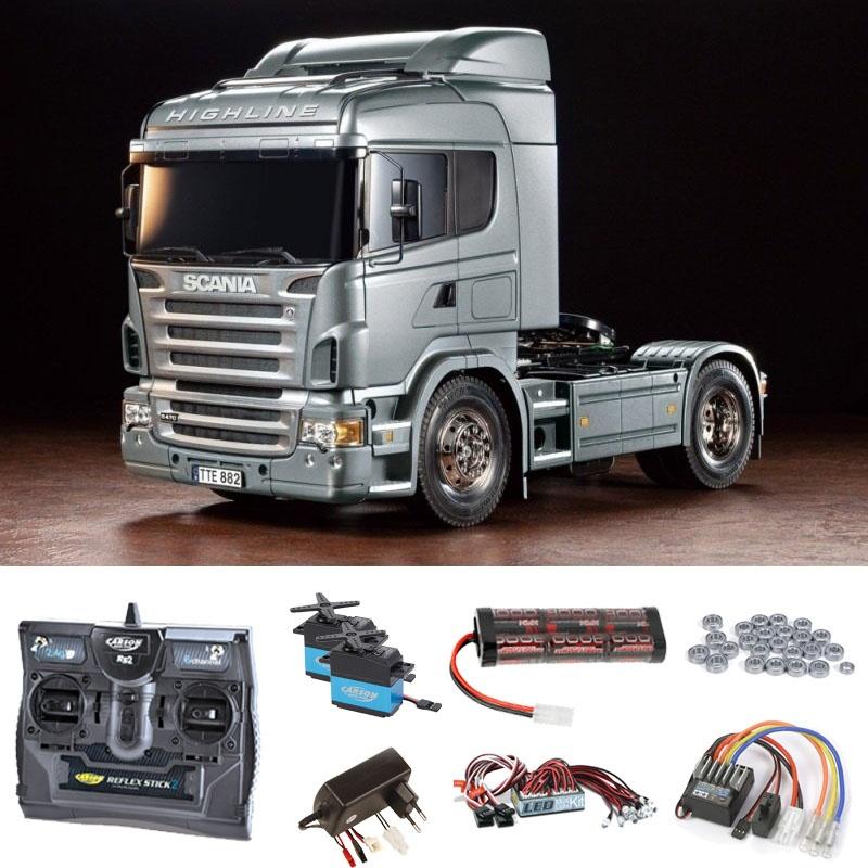 Scania R470 Silber Edition 1:14 Komplettset +LED, Kugellager