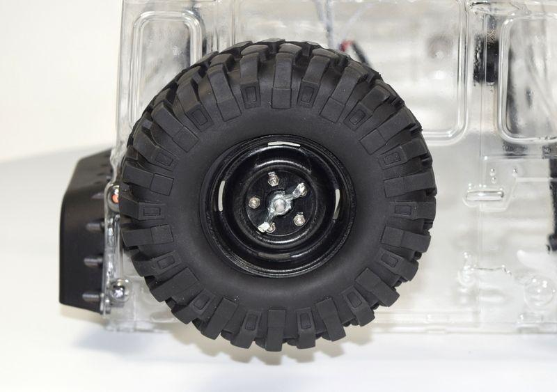 Ersatzrad Crawler mit Abdeckung + Metallhalterung (96mm)