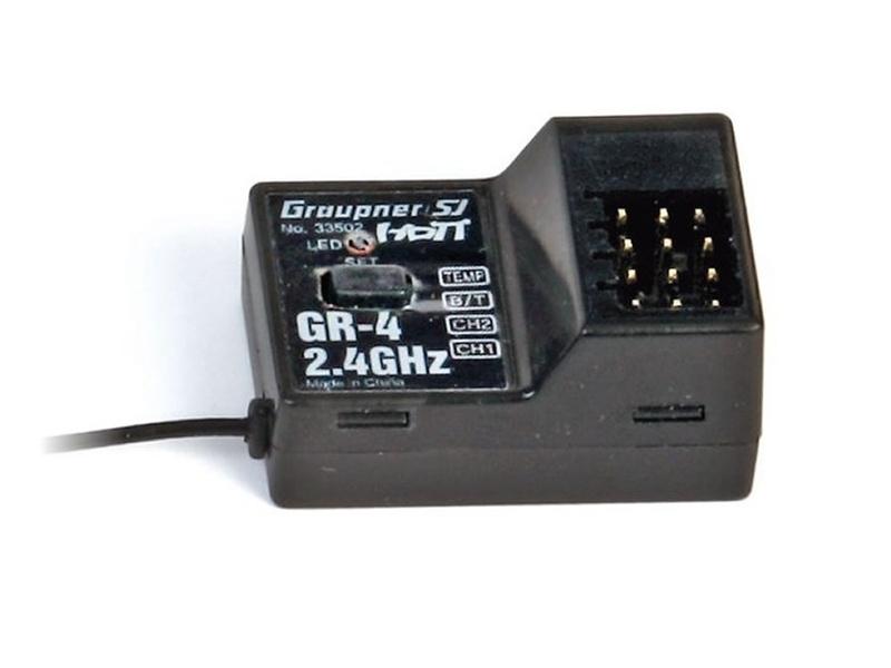 GR-4 HoTT 2.4 GHz 2-Kanal Empfänger
