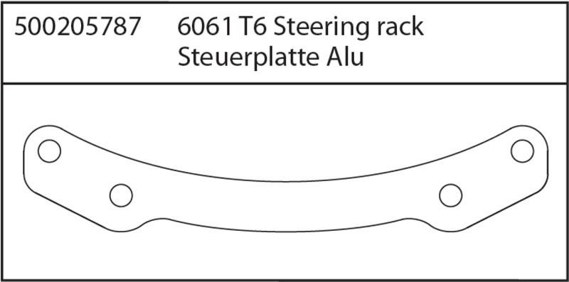 X8 Specter Steuerplatte Alu