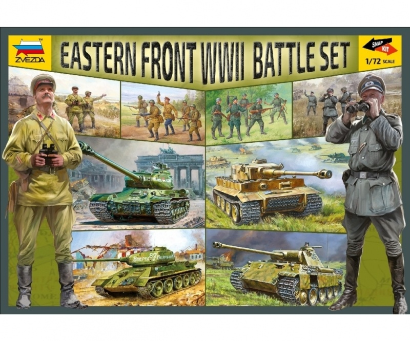 WWII Battle Set Ostfront 1:72 Plastikbausatz