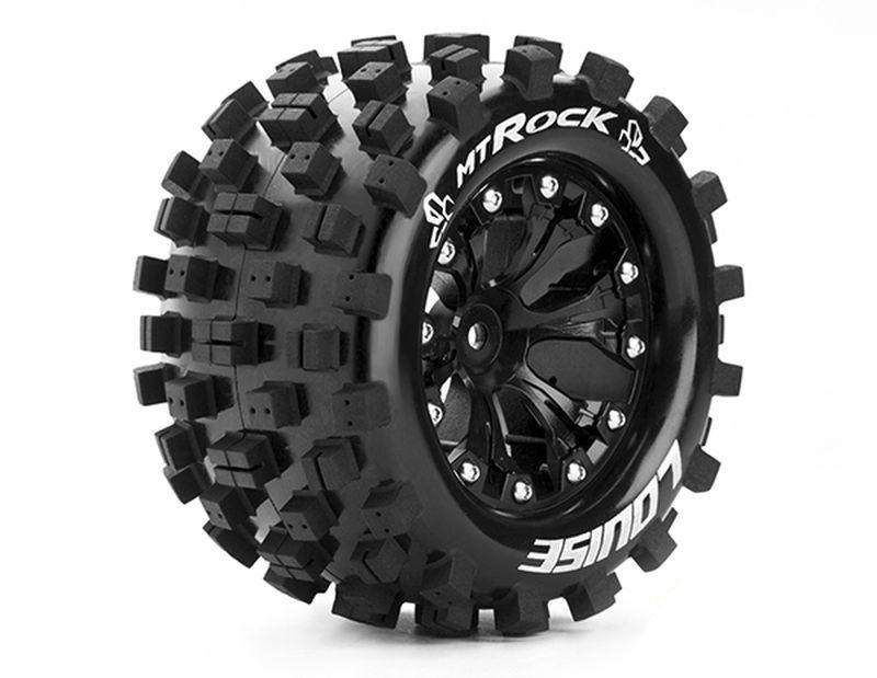 Komplettrad MT-Rock soft, schwarz 1/2 Offset 12mm 2.8