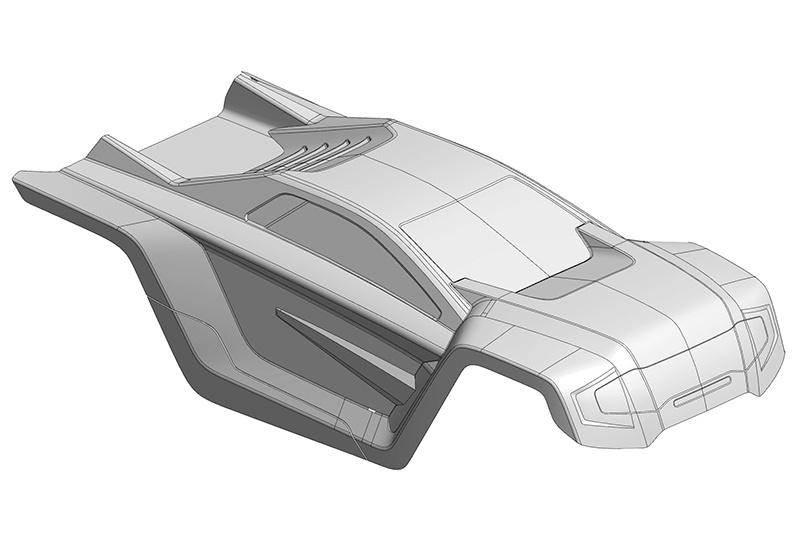 Polycarbonat Karosserie klar für Shogun XP 6S