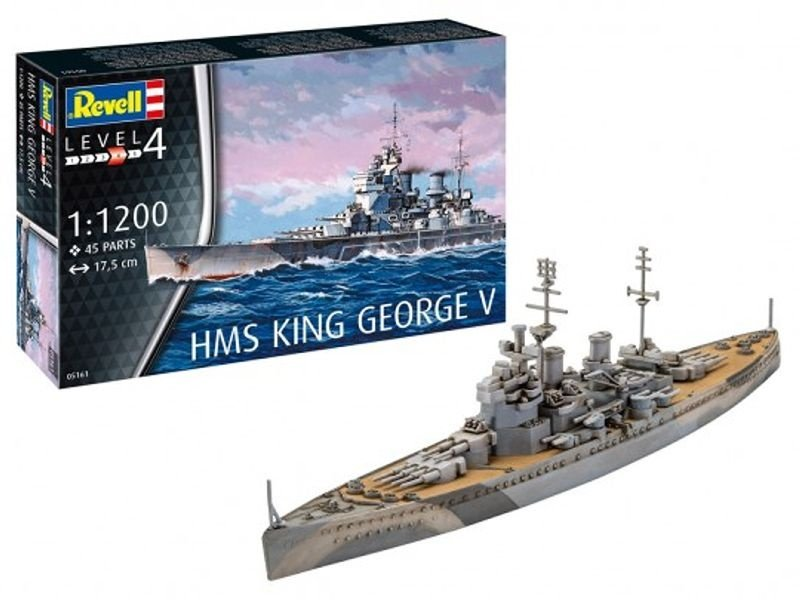 Model Set HMS King George V Flaggschiff 1:350 Bausatz