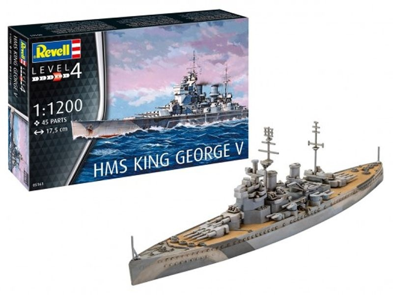 Model Set HMS King George V Flaggschiff 1:1200 Bausatz