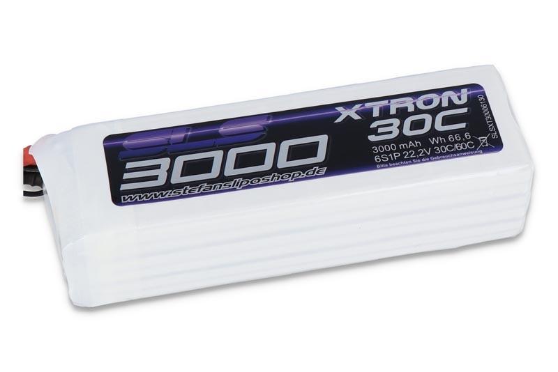 XTRON 3000mAh 6S1P 22,2V 30C/60C