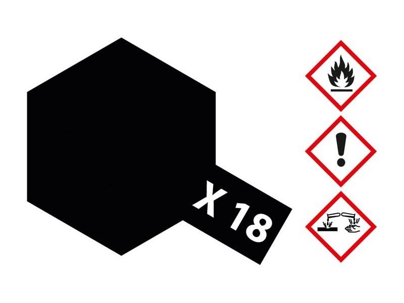 X-18 Schwarz seidenmatt 23ml Acrylfarbe