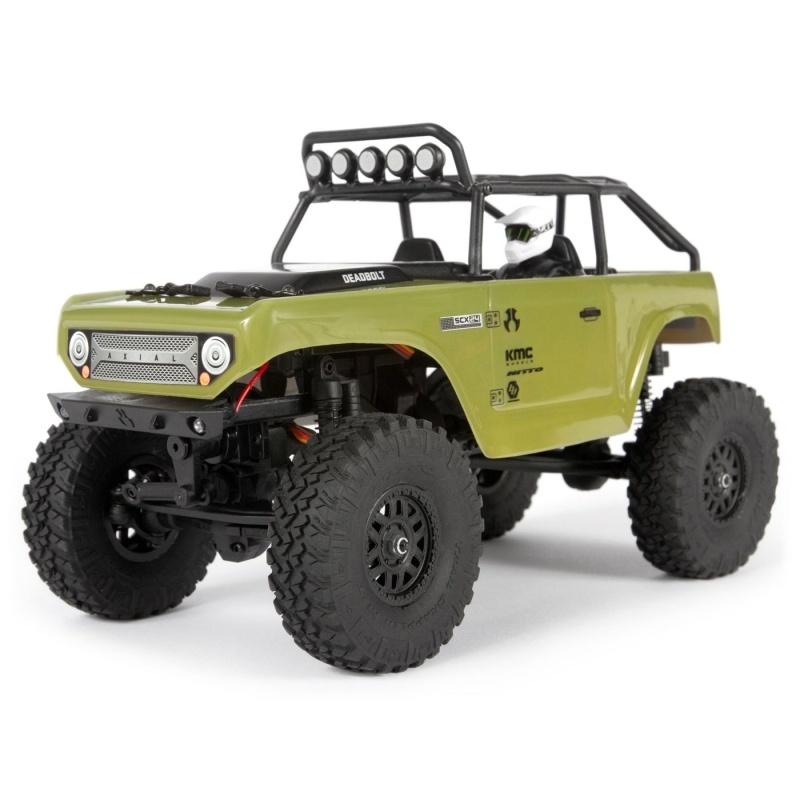 SCX24 Deadbolt 4WD Scale Crawler 1:24 RTR, grün