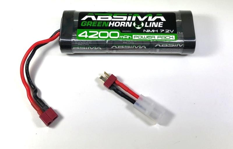 NiMH Akku 7,2V 4200mAh Stick Pack mit Deans + Tamiya Adapter