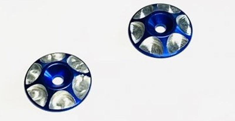 Aluminium Unterlegscheiben für Heckflügel M3 - blau (2)