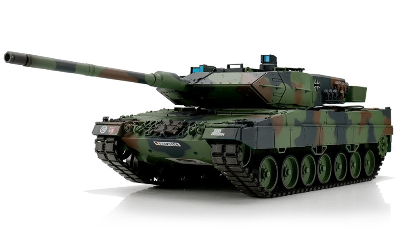 RC Panzer Leopard 2A6 flecktarn 1:16 BB + IR Battlesystem