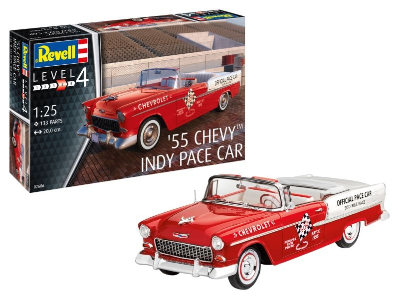 1955 Chevy Indy Pace Car Bausatz 1:25