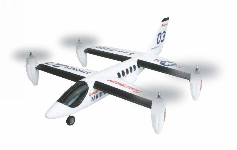X44 VTOL RTF Elektro Flugmodell, Senkrechtstarter, 695 mm