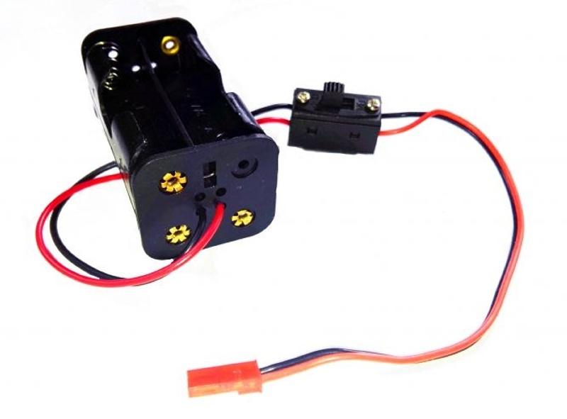 Batteriebox Mignon AA mit Schalter