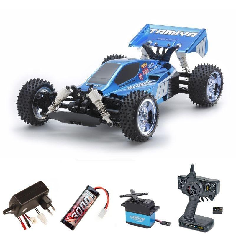 Neo Scorcher Blue Metallic 4WD Buggy 1/10 TT-02B Komplettset