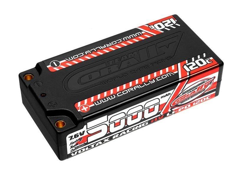 Voltax 120C LiPo HV Battery 5000 mAh 7.6V Shorty 2S 4mm