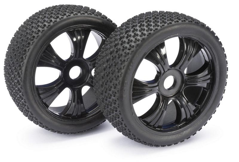 Räderset LP Buggy Dirt schwarz 1:8 (2 St.)