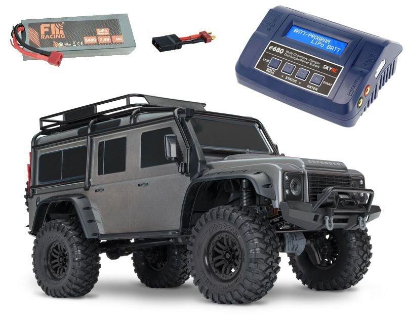 TRX-4 Land Rover Defender Crawler grau RTR  +5400 LiPo+Lader