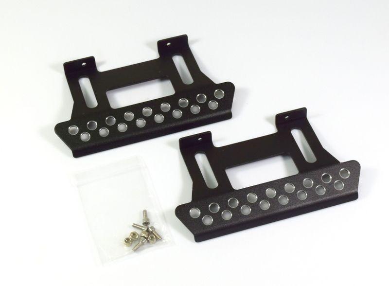 Aluminium Trittbrett für Crawler schwarz (2) 1:10