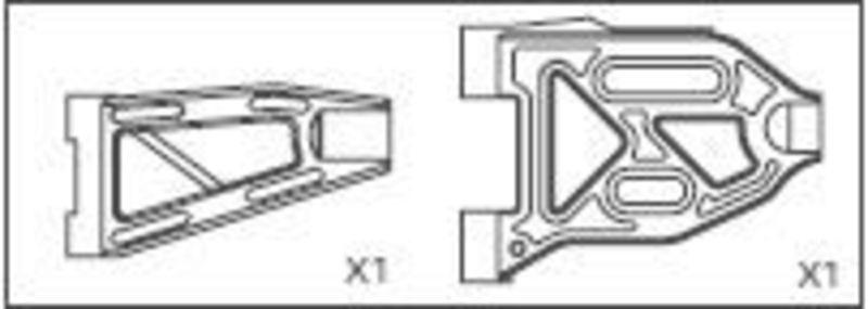 Querlenker vorne unten/oben Specter / CY-Chassis