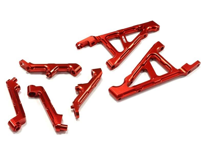 CNC Alu Dämpferbrückenhalter vorne & hinten rot für HPI Baja