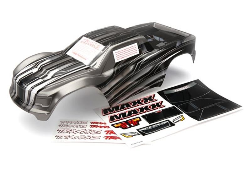 Karosserie mit aufgedruckter Grafik + Dekorbogen für Maxx