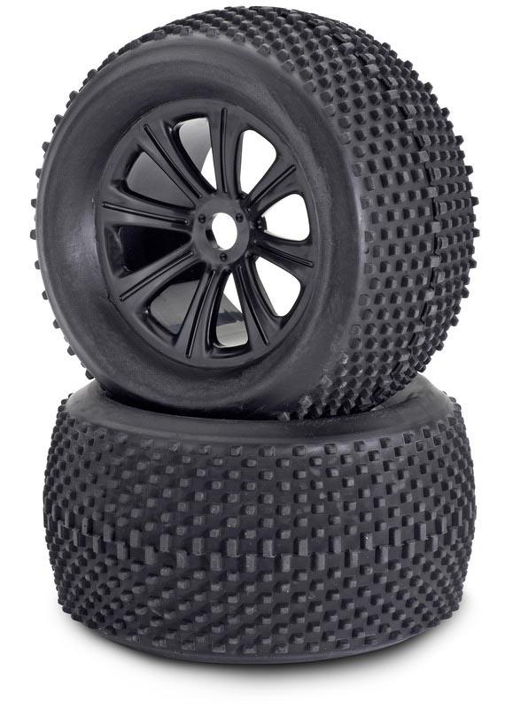 1:8 Reifen/Felgen-Set Truggy schw. 2 St.