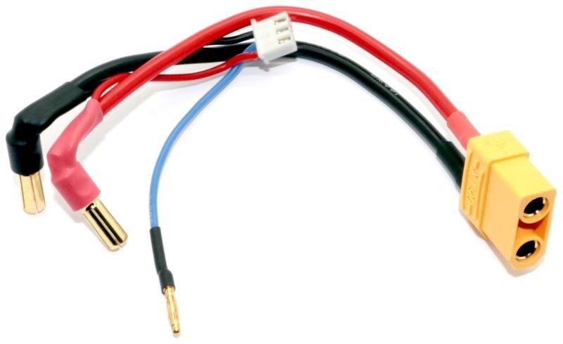 Fahr & Ladekabel 5mm Gold Stecker zu XT90 & Balancer Stecker