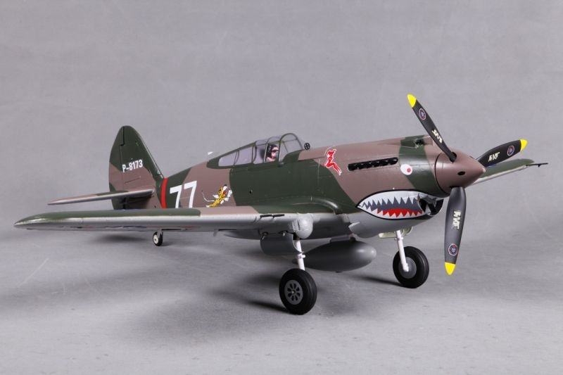 P-40B Curtiss Warhawk Flying Tiger BL Flugmodell 980mm PNP