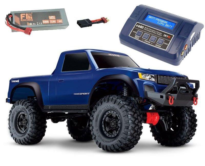 TRX-4 Sport - 1/10 Scale Crawler RTR blau + 6600 Lipo+ Lader