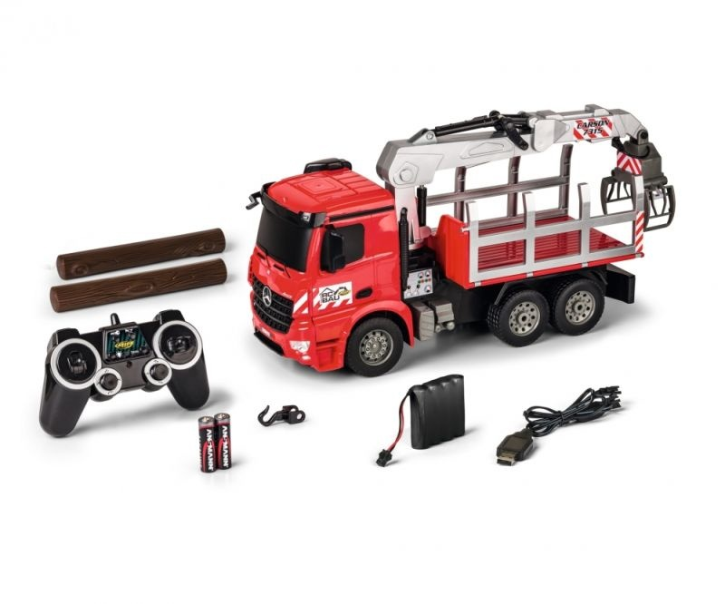RC Holztransporter 1:20 MB Arocs mit LED 2,4GHz 100% RTR