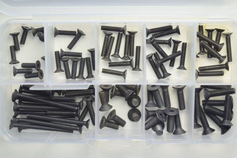 Senkkopf Schraubensortiment 100-teilig in praktischer Box