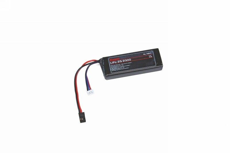 Empfängerakku LiPo 2S/2300 JR-Stecker