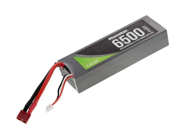 Akku Lipo 7,4V 6500mah T-Plug Stecker Hardcase 45C