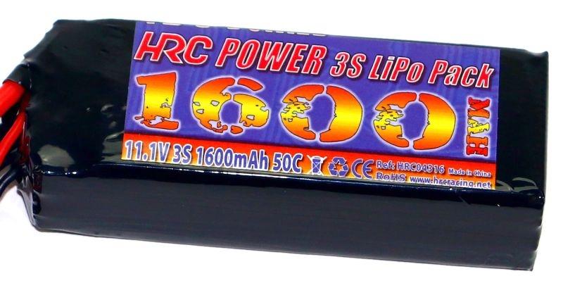 LiPo Akku 3S 11,1V 1600mAh 50C 1/16 Fahrzeuge TRX Stecker