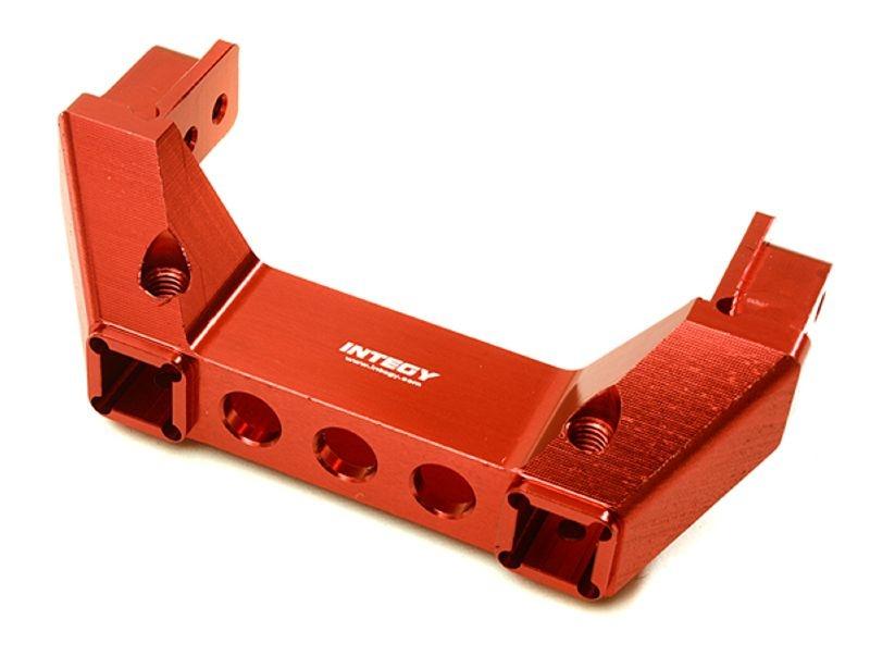CNC Aluminium Rammer Halterung hinten (rot) für TRX-4