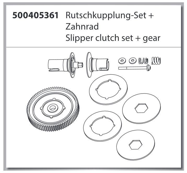 X10EB Rutschkupplung-Set + Zahnrad