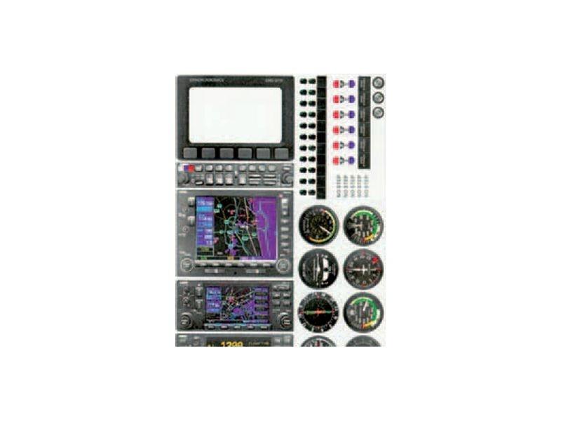 Klebebogen Cockpit-Instrumente A