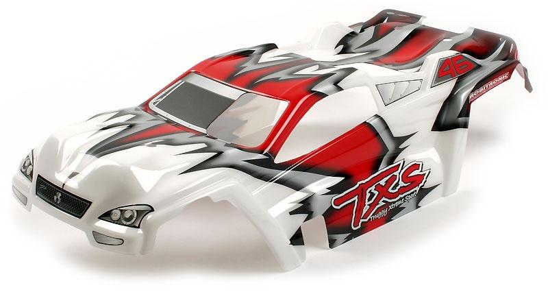 Mantis Karosserie Rot/Weiß lackiert Truggy truck 1.8
